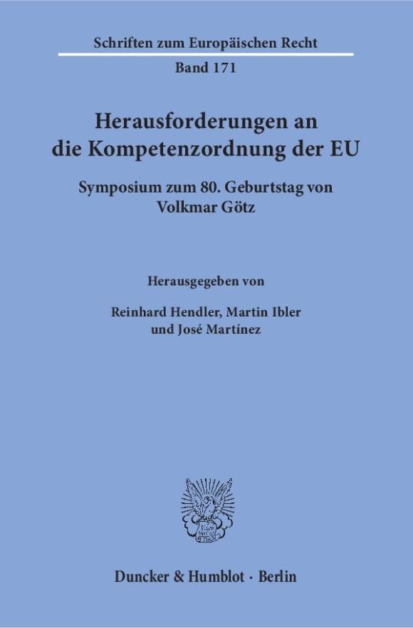 Cover Herausforderungen an die Kompetenzordnung der EU
