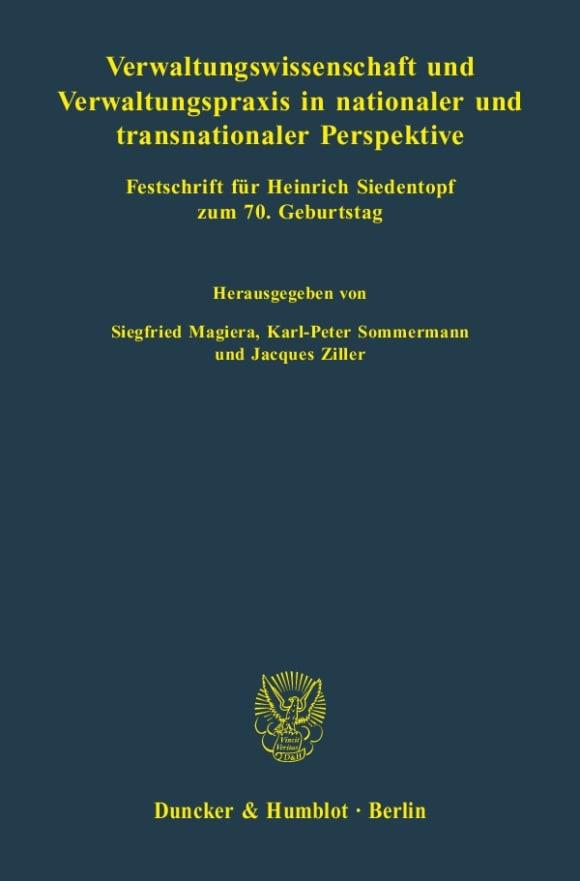 Cover Verwaltungswissenschaft und Verwaltungspraxis in nationaler und transnationaler Perspektive