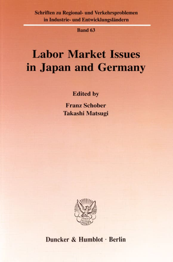 Cover Labor Market Issues in Japan and Germany