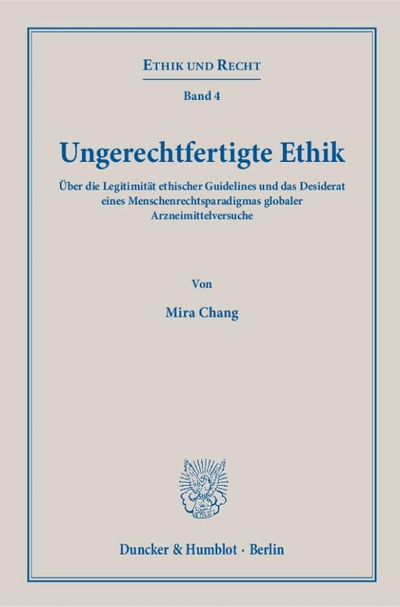 Cover Ungerechtfertigte Ethik