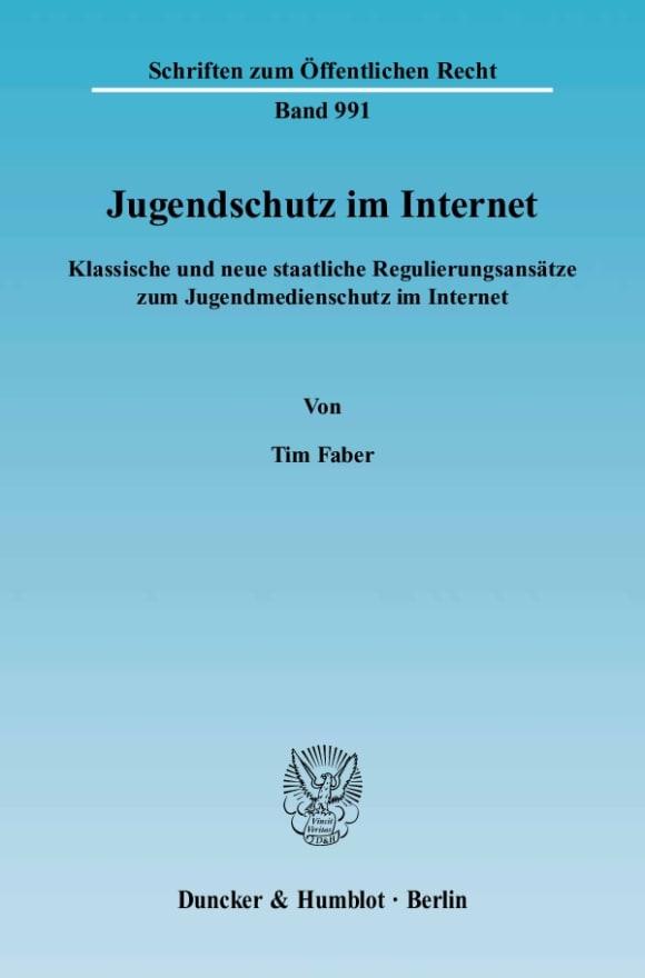 Cover Jugendschutz im Internet