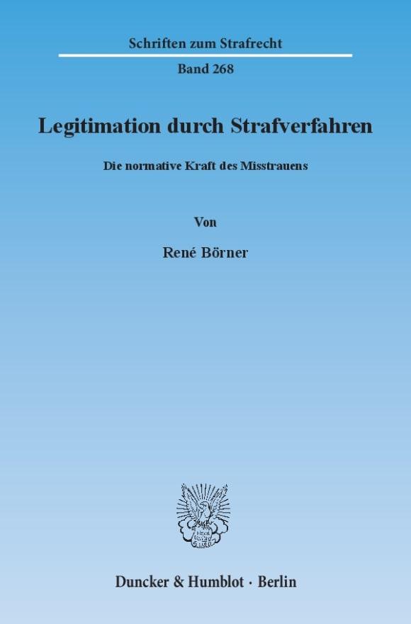 Cover Legitimation durch Strafverfahren