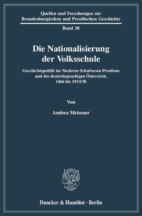 Cover Die Nationalisierung der Volksschule