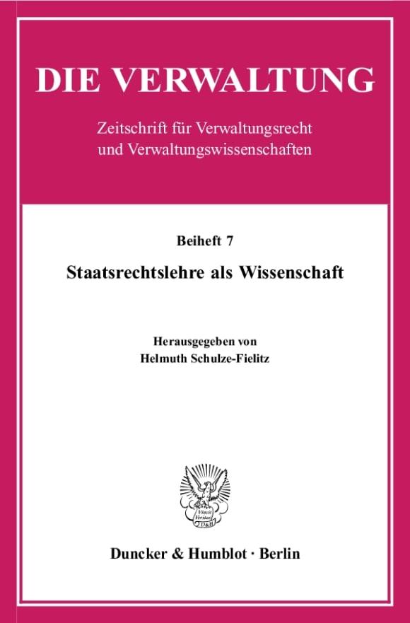 Cover Staatsrechtslehre als Wissenschaft