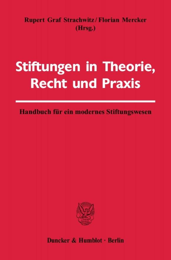 Cover Stiftungen in Theorie, Recht und Praxis