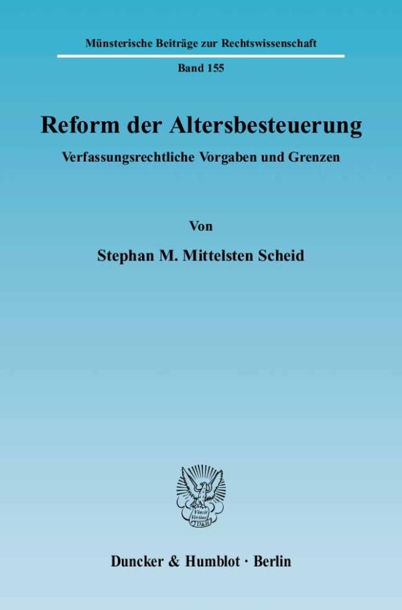 Cover Reform der Altersbesteuerung