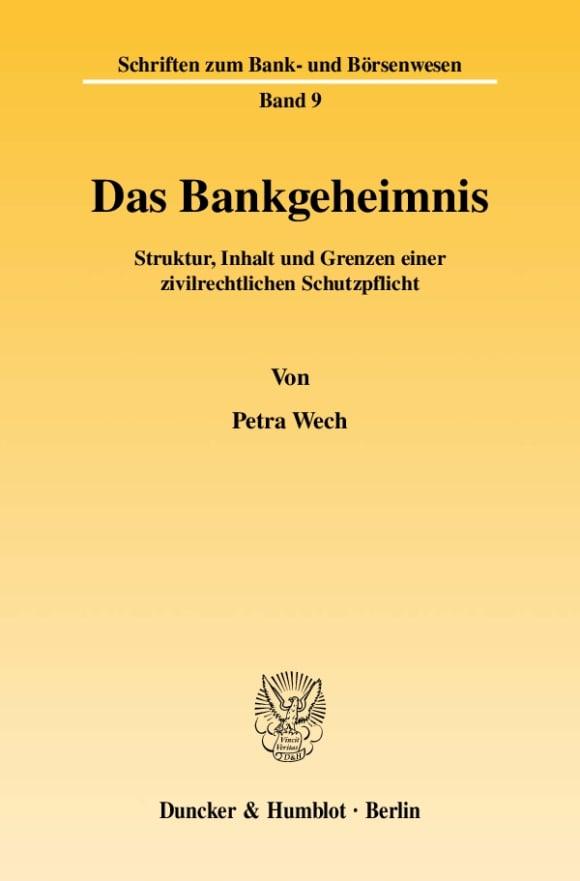 Cover Schriften zum Bank- und Börsenwesen (BB)