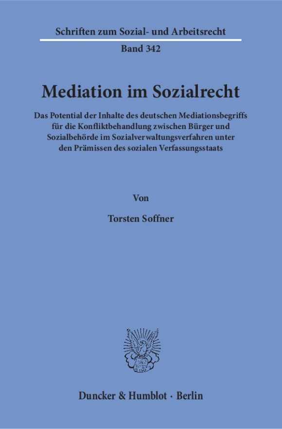 Cover Mediation im Sozialrecht