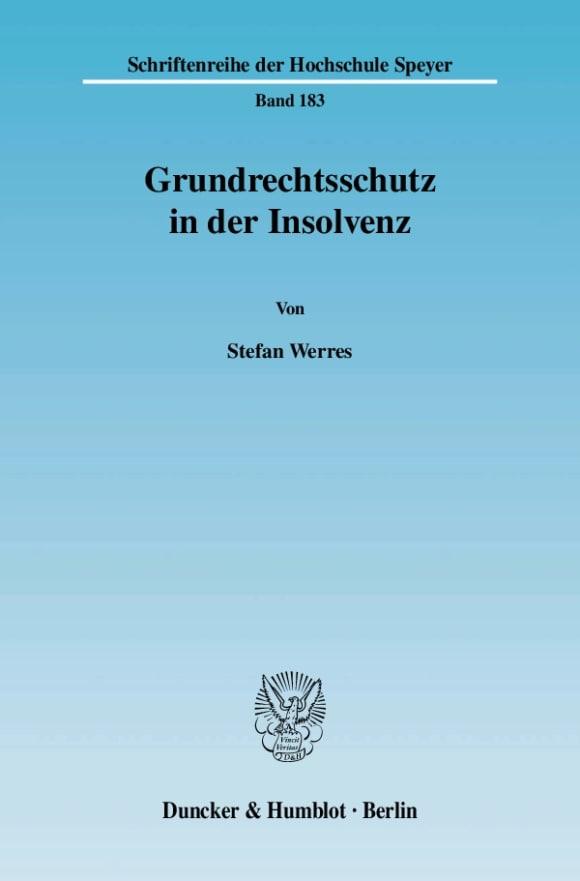 Cover Grundrechtsschutz in der Insolvenz