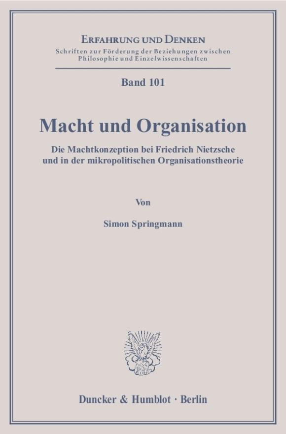 Cover Macht und Organisation