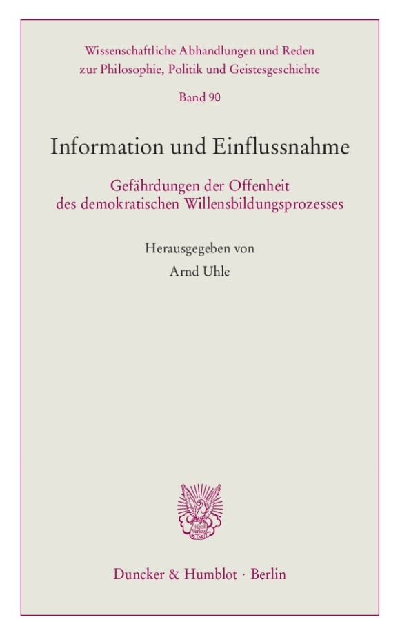 Cover Information und Einflussnahme