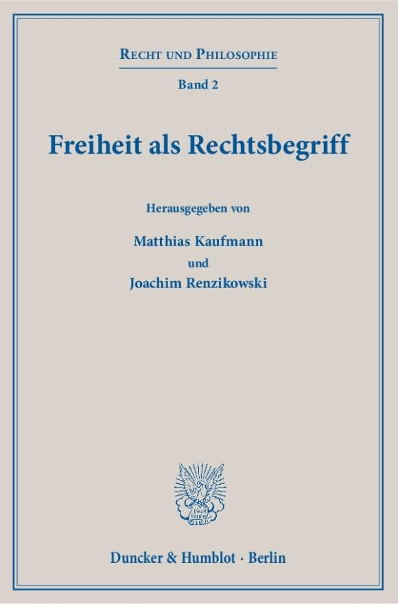 Cover Freiheit als Rechtsbegriff