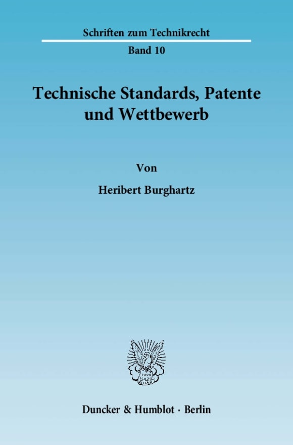 Cover Technische Standards, Patente und Wettbewerb
