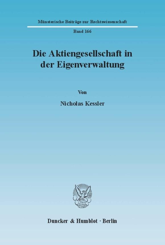 Cover Die Aktiengesellschaft in der Eigenverwaltung
