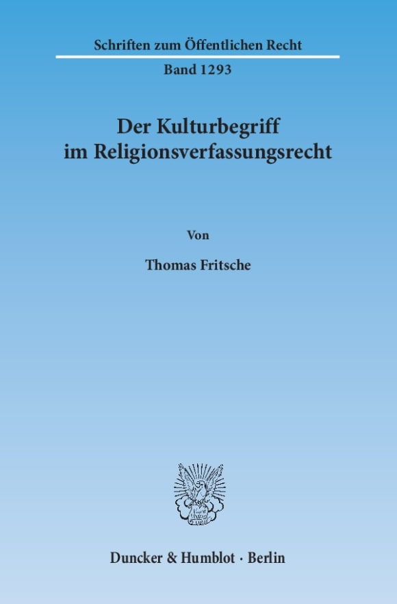 Cover Der Kulturbegriff im Religionsverfassungsrecht