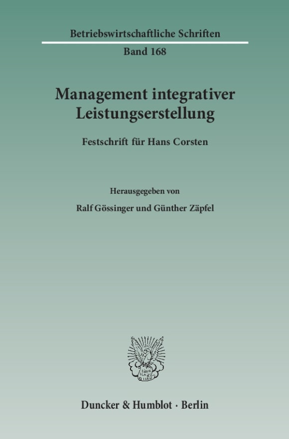 Cover Management integrativer Leistungserstellung