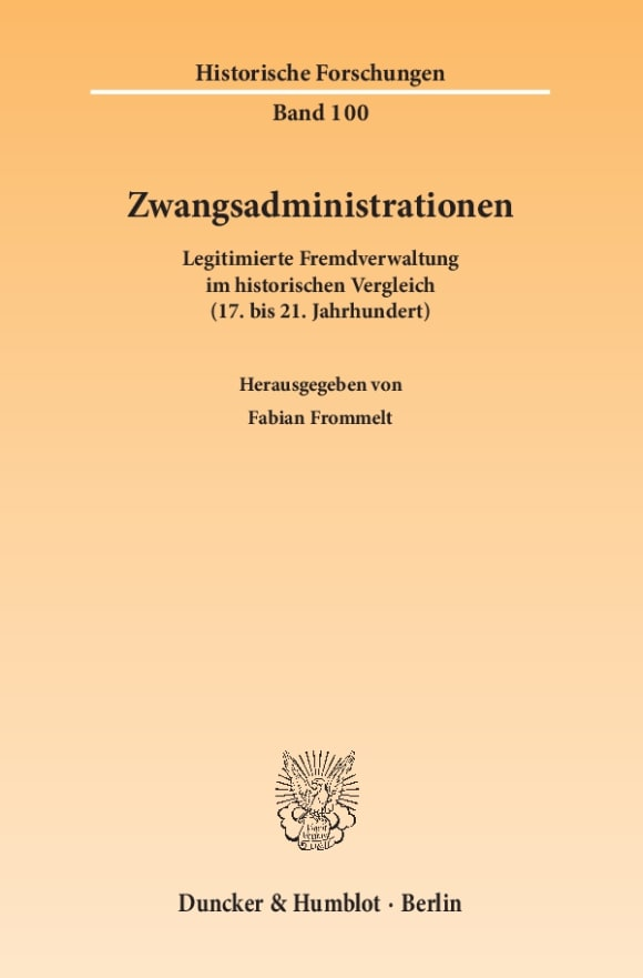 Cover Zwangsadministrationen