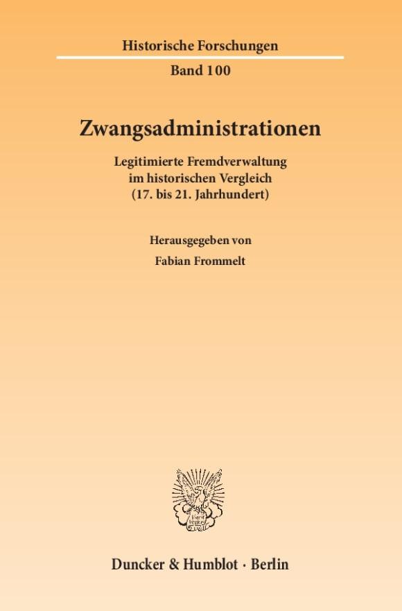 Cover Zwangsadministrationen