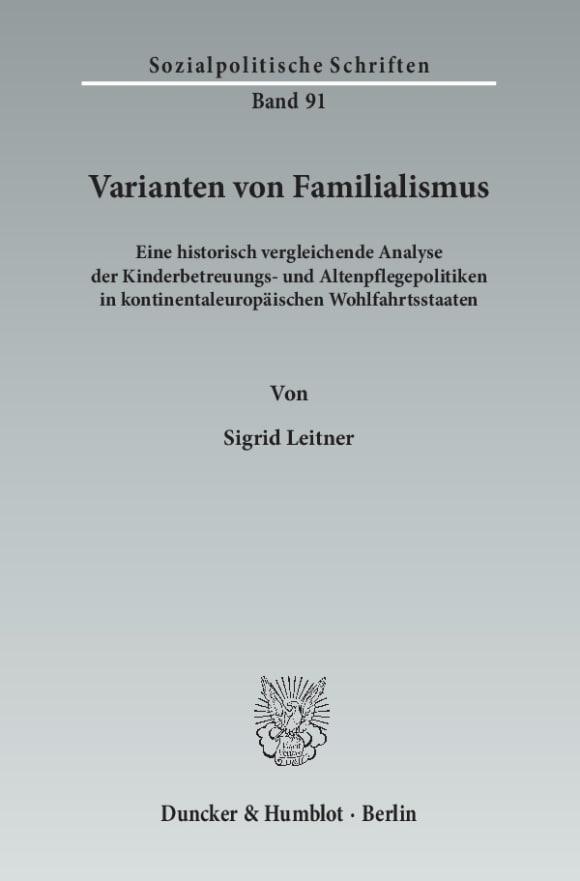 Cover Varianten von Familialismus