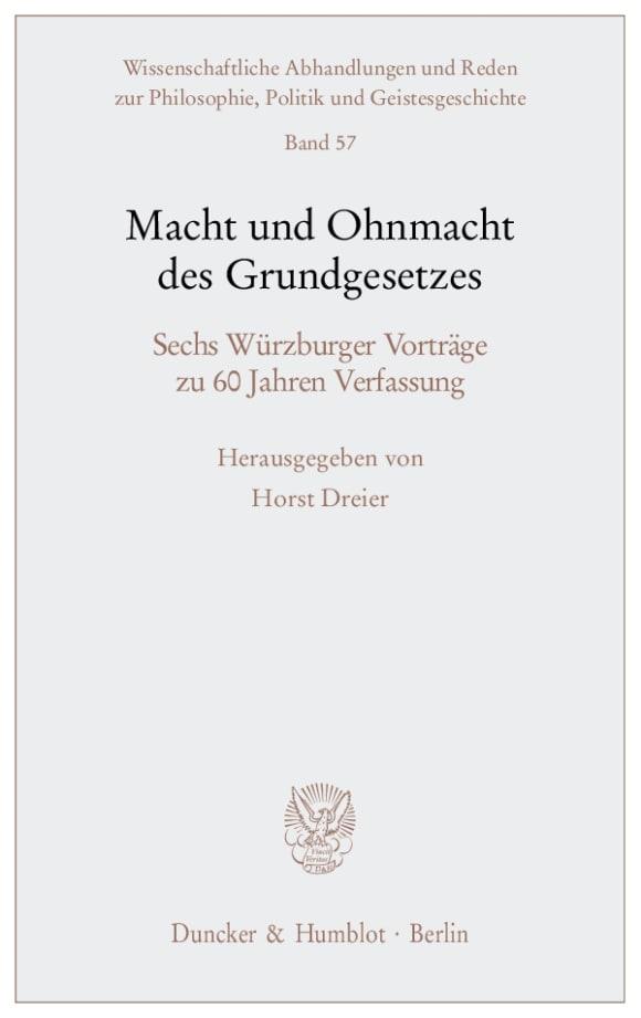 Cover Macht und Ohnmacht des Grundgesetzes