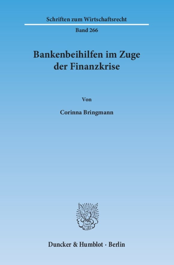 Cover Bankenbeihilfen im Zuge der Finanzkrise