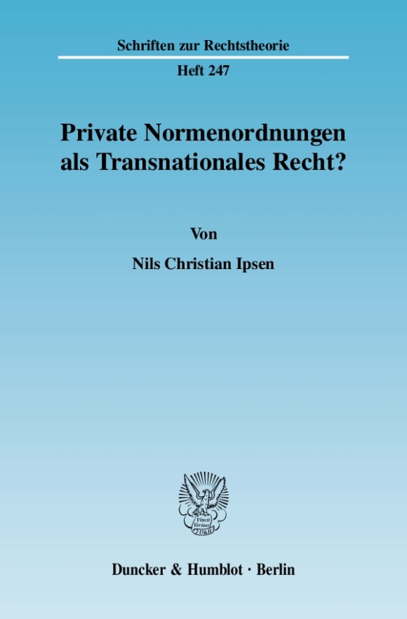 Cover Private Normenordnungen als Transnationales Recht?
