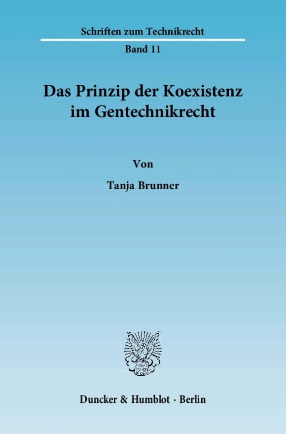 Cover Das Prinzip der Koexistenz im Gentechnikrecht
