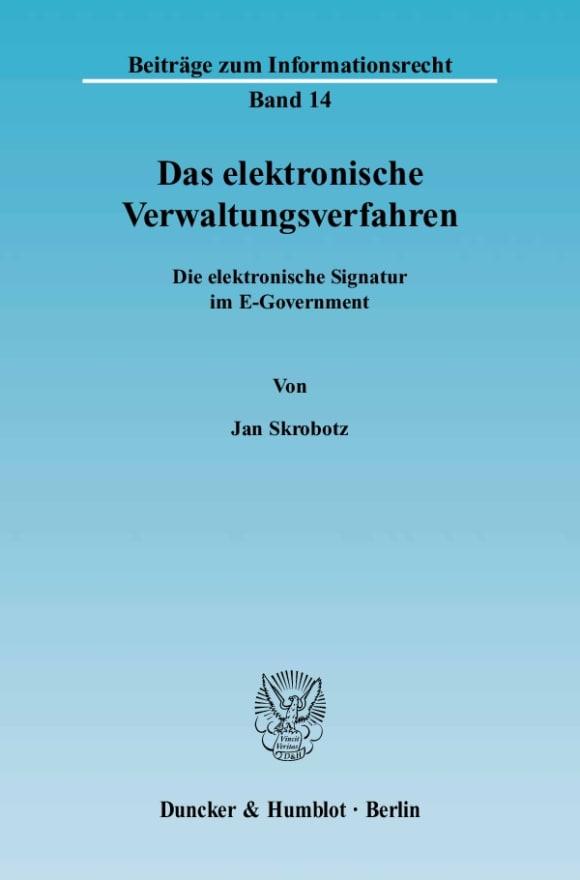 Cover Das elektronische Verwaltungsverfahren
