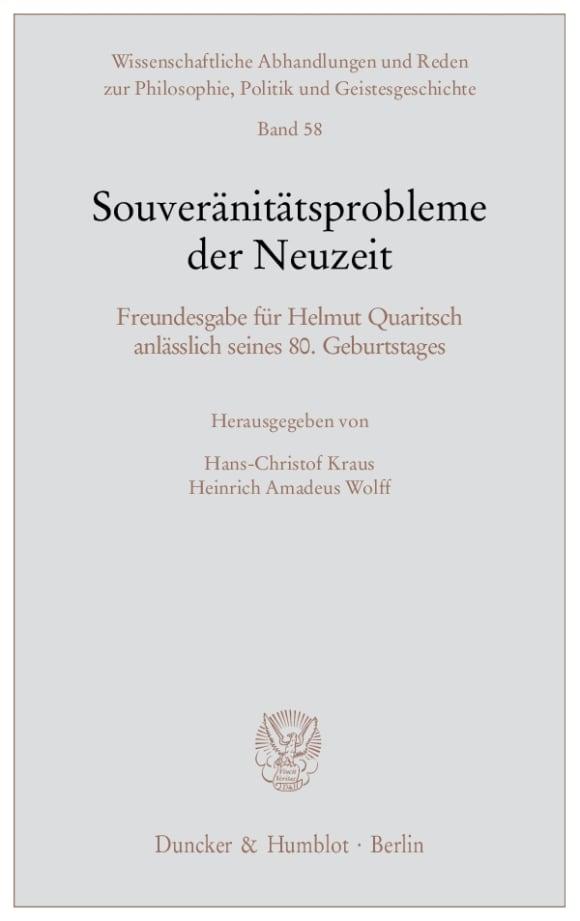 Cover Souveränitätsprobleme der Neuzeit