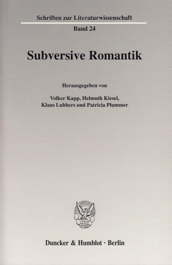 Cover Subversive Romantik