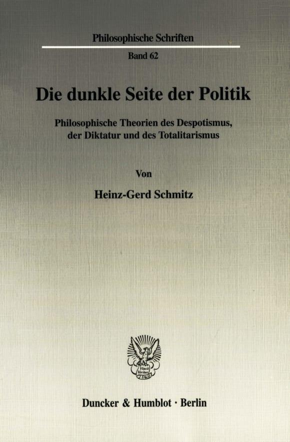 Cover Die dunkle Seite der Politik
