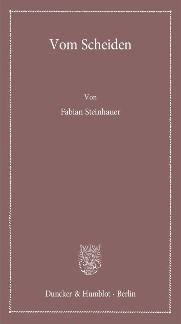 Cover Vom Scheiden