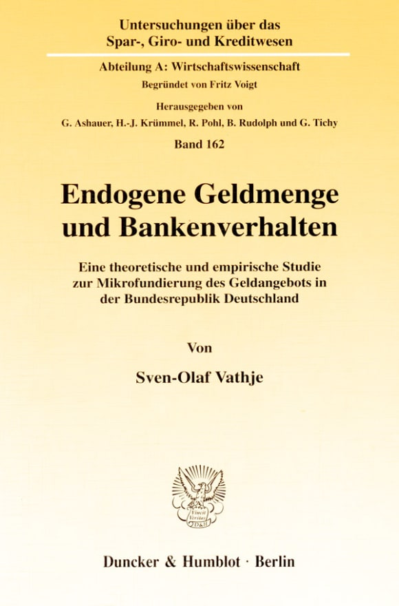 Cover Endogene Geldmenge und Bankenverhalten
