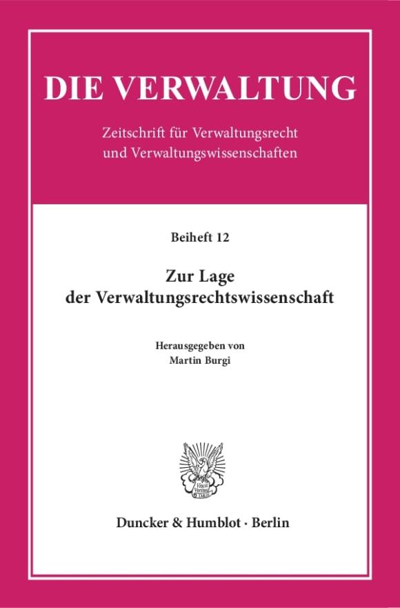 Cover Die Verwaltung. Beihefte (BH VERW)