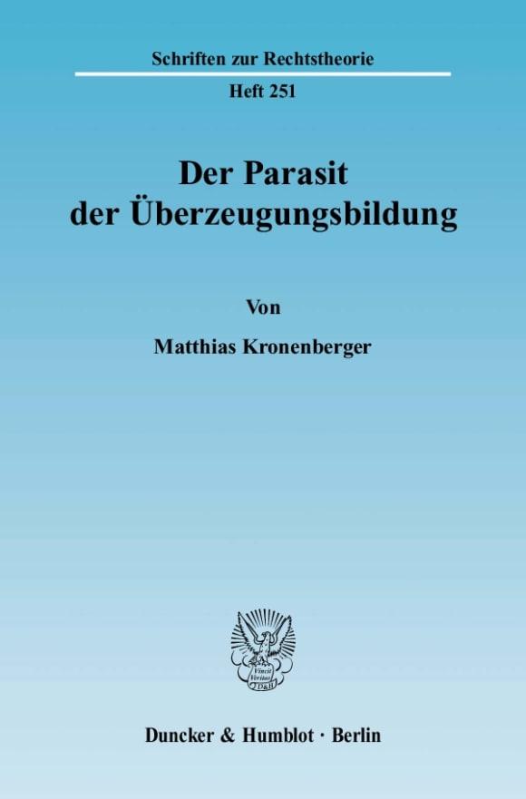 Cover Der Parasit der Überzeugungsbildung