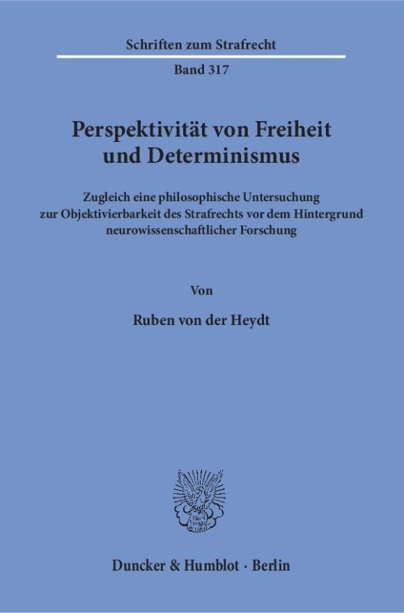 Cover Perspektivität von Freiheit und Determinismus