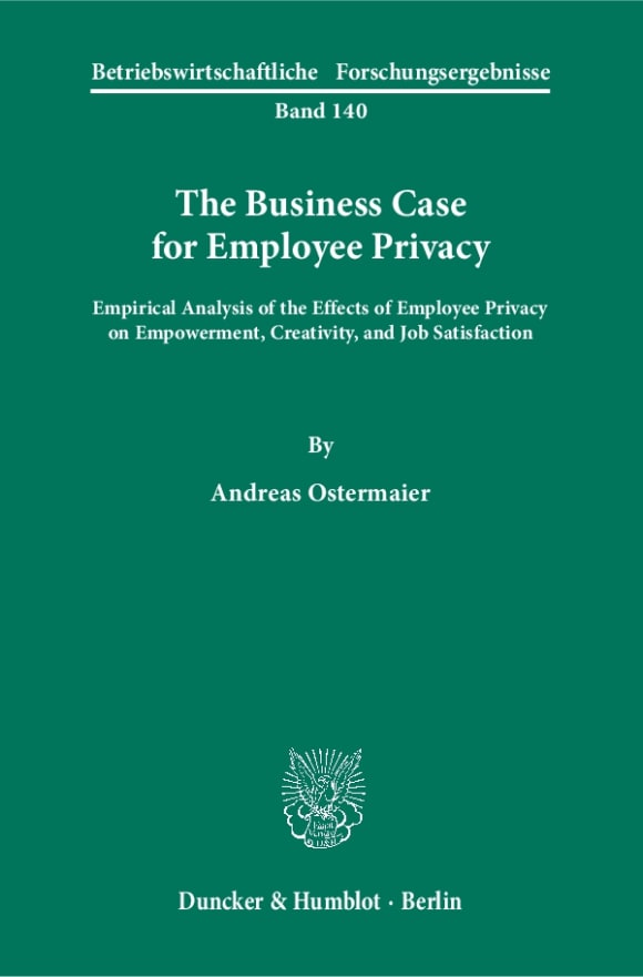 Cover The Business Case for Employee Privacy