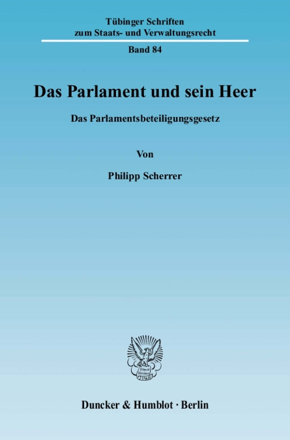 Cover Das Parlament und sein Heer