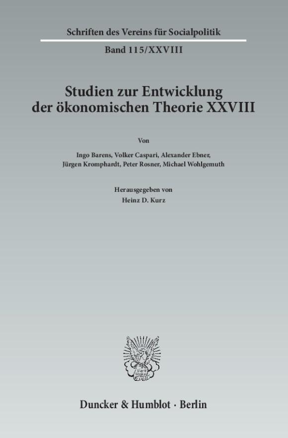 Cover Die Ökonomik im Spannungsfeld zwischen Natur- und Geisteswissenschaften