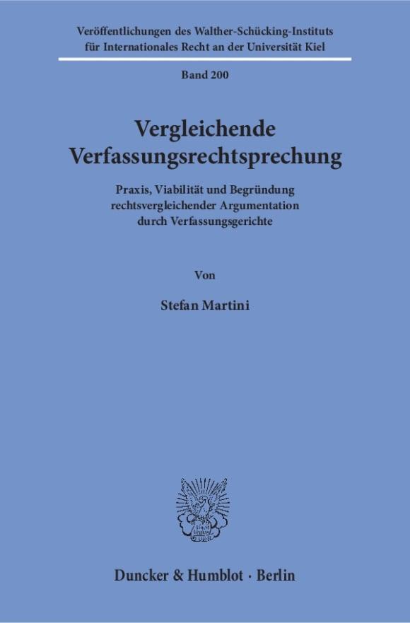 Cover Vergleichende Verfassungsrechtsprechung