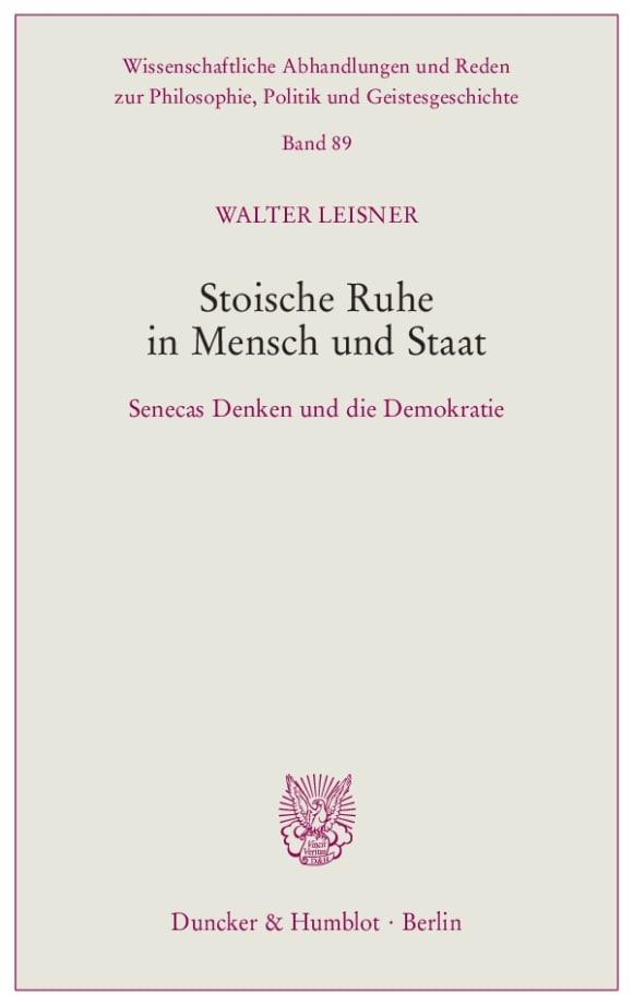 Cover Stoische Ruhe in Mensch und Staat
