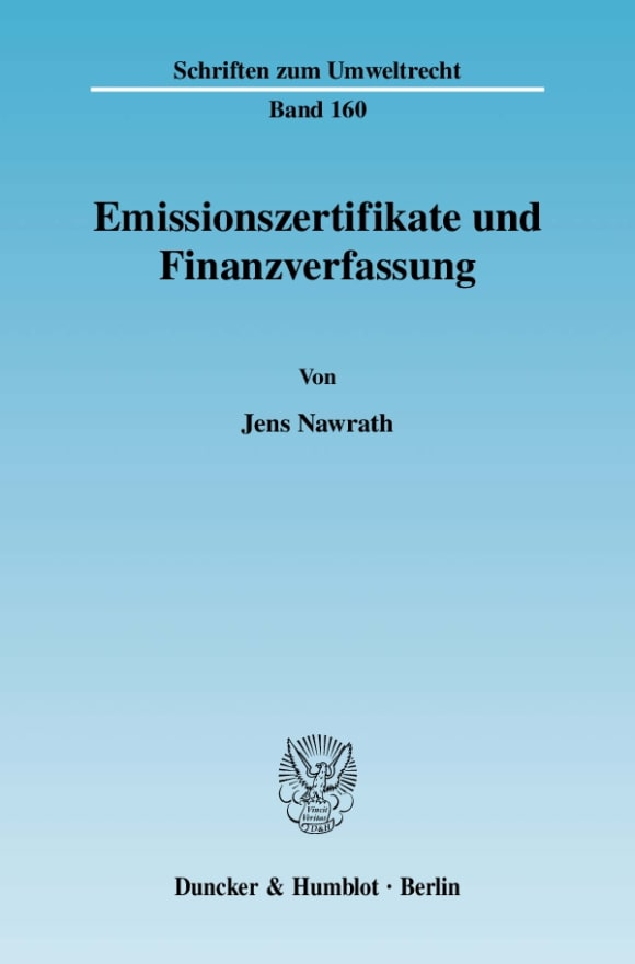 Cover Emissionszertifikate und Finanzverfassung