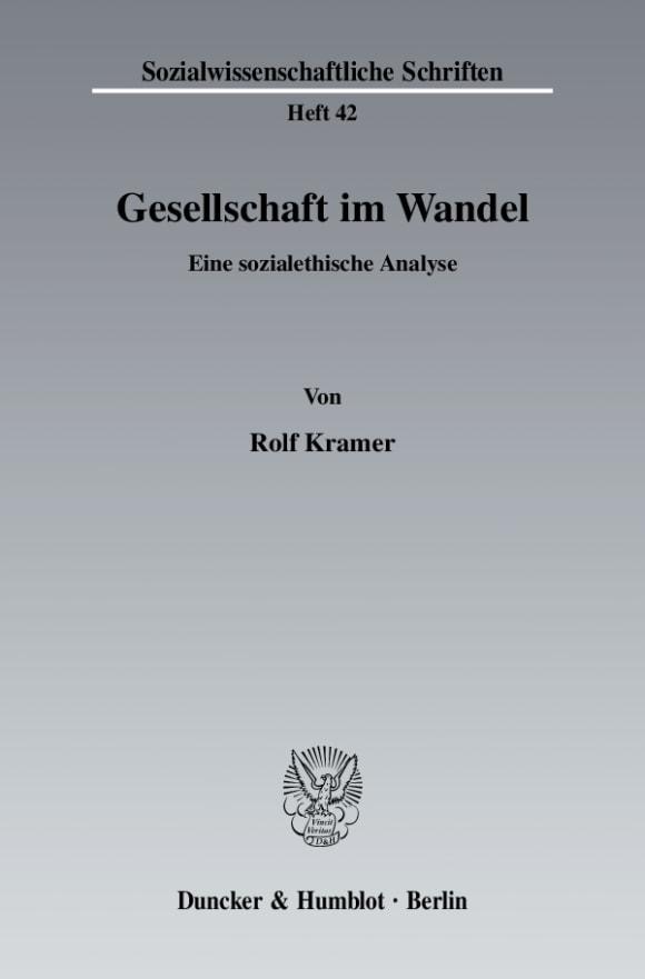 Cover Gesellschaft im Wandel