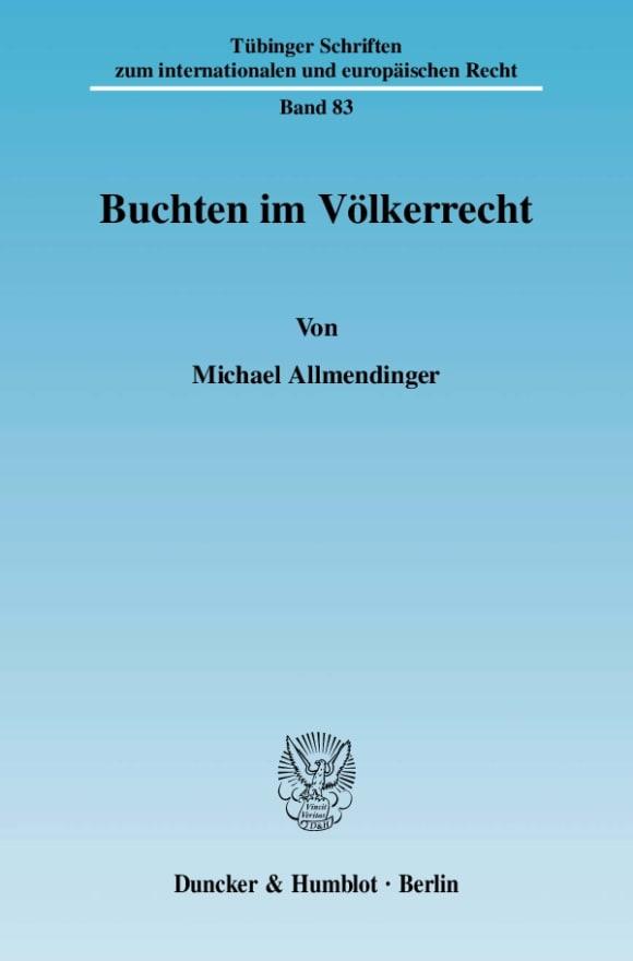 Cover Buchten im Völkerrecht
