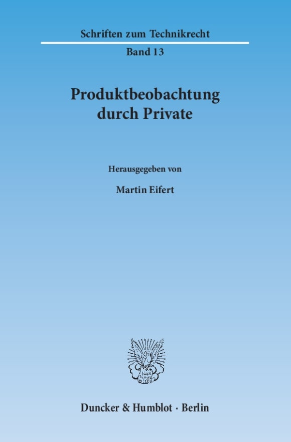 Cover Produktbeobachtung durch Private