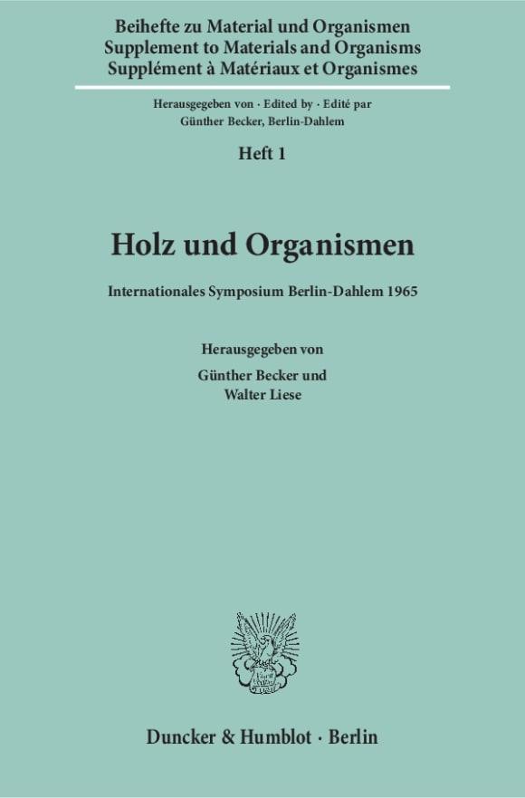 Cover Material und Organismen. Beihefte (BH MO)