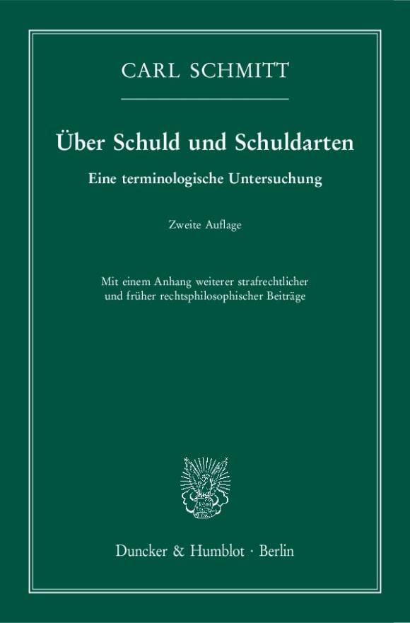 Cover Über Schuld und Schuldarten