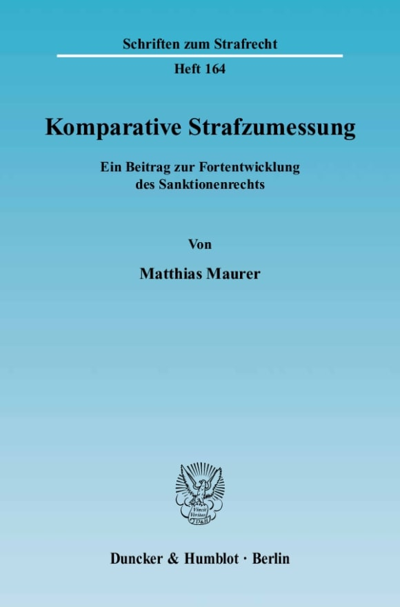 Cover Komparative Strafzumessung