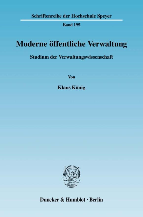 Cover Moderne öffentliche Verwaltung