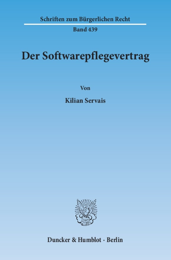 Cover Der Softwarepflegevertrag